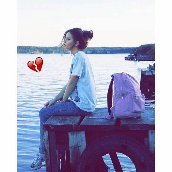 Sad girl broken heart girl alone dp for fb
