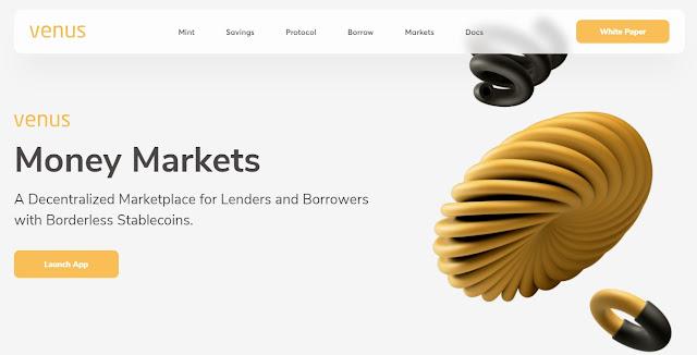 Screenshot Website Venus (XVS)