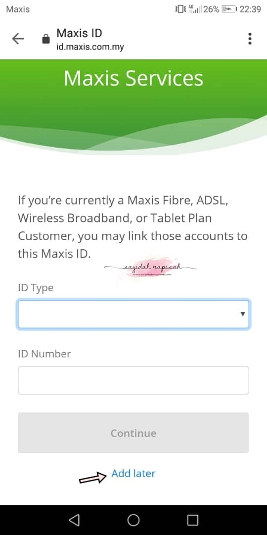 cara daftar log in mymaxis app