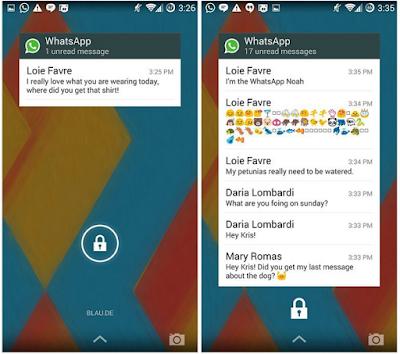 Cara Menambahkan Widget WhatsApp ke layar kunci Anda