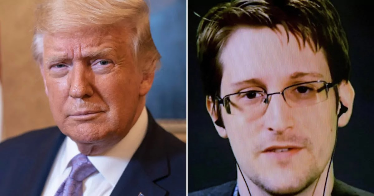 Trump Says He Is Considering Pardoning Edward Snowden Who Has Been In Russia For 7 Years