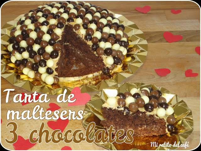 Tarta de maltesers 3 chocolates