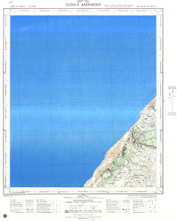 Zaouiat Akermoud carte topographique maroc