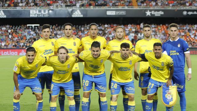 Once inicial de UD Las Palmas en Valencia