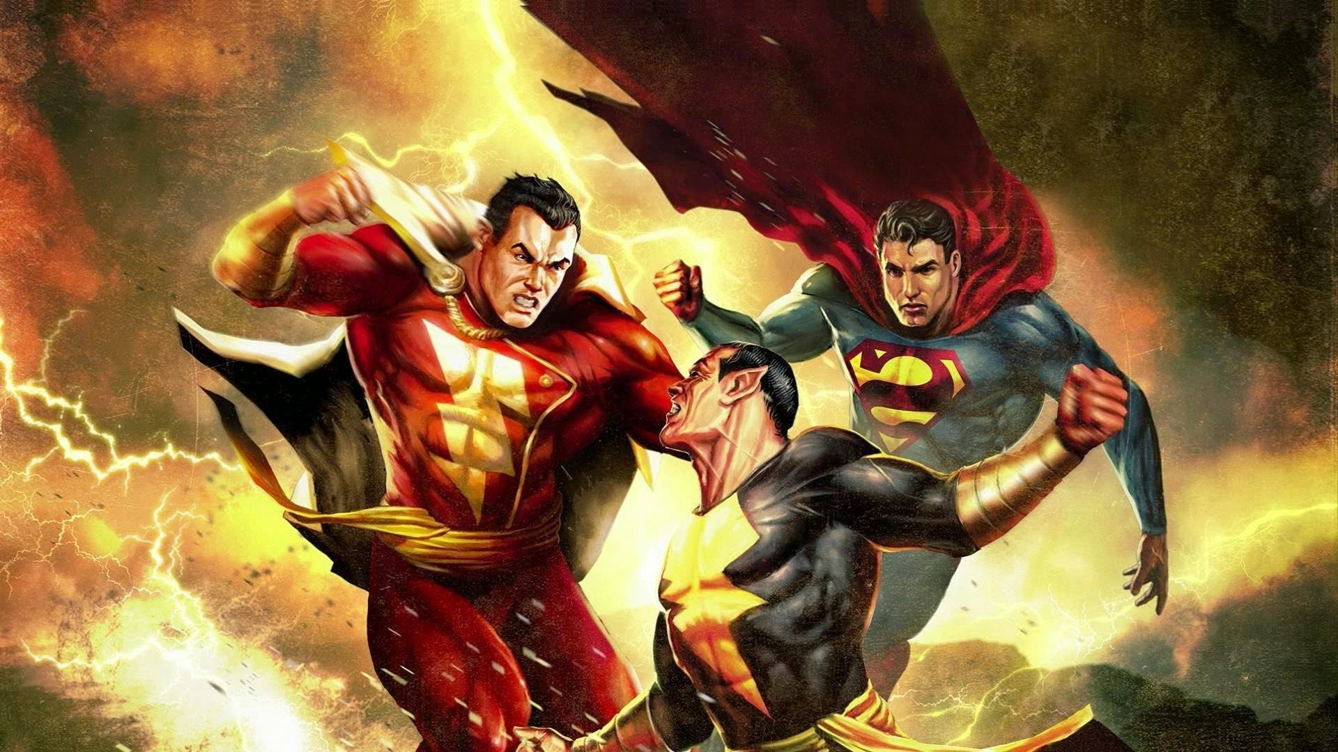 Supergirl Hd Wallpapers 1080p Shazam Vs Blackadam Vs Superman Comic Wallpaper