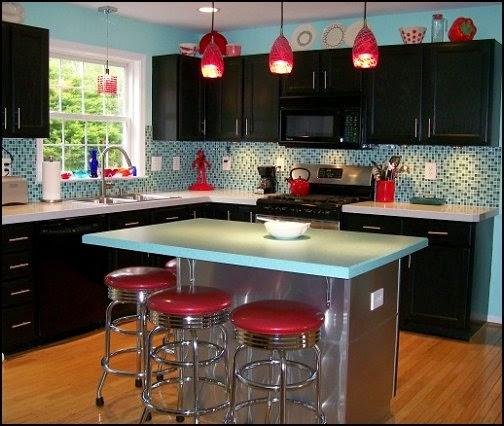 Diseño de cocina retro