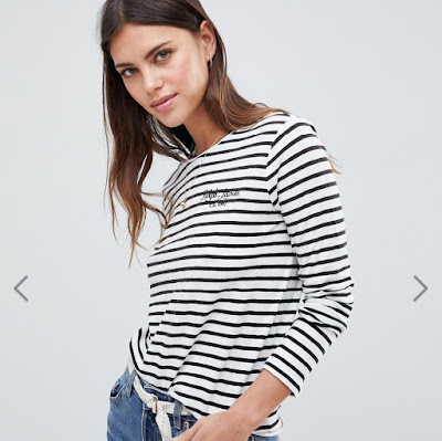 Polo Ralph Lauren Classic Stripe Logo Long Sleeve Top