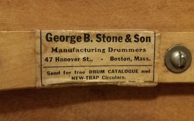 Stone & Son Drum Label, ca. 1919 to 1921