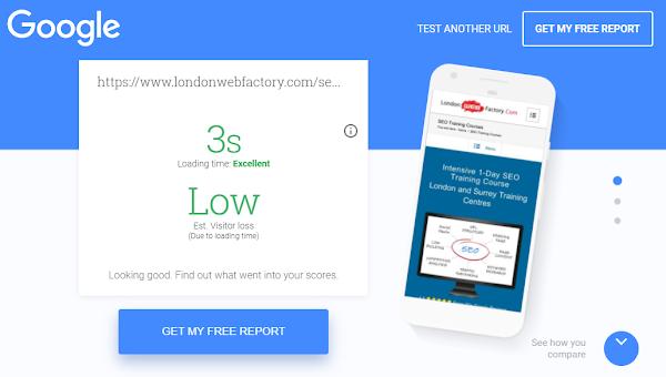 موقع My Site لقياس سرعة وجودة موقعك على الموبايل