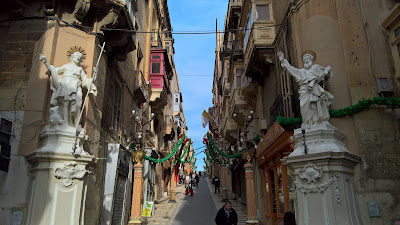 St. Lucia's Street in La Valletta.