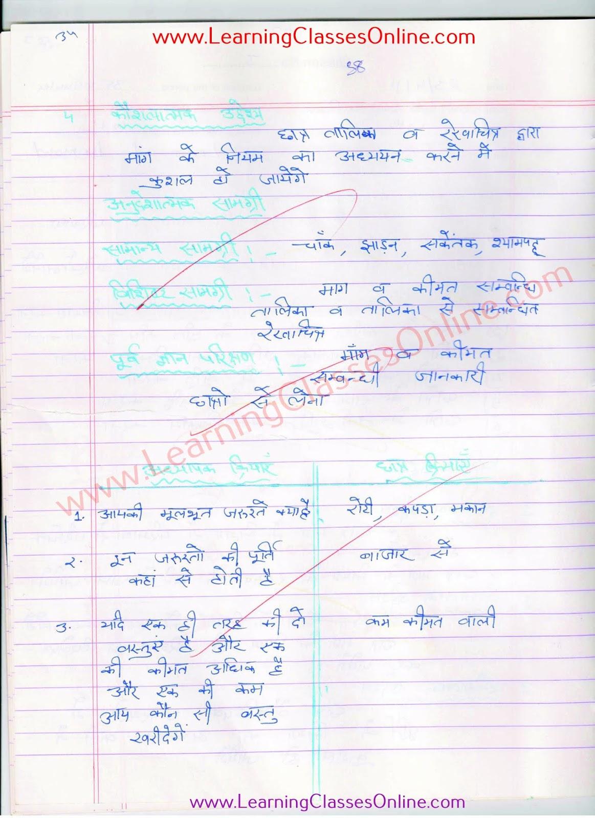 law of demand paath yojana in hindi