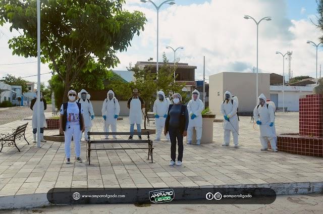 Prefeitura de Amparo contrata empresa para fazer desinfecção das ruas devido ao Covid-19