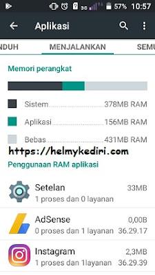 Cek kapasitas RAM