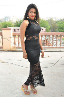 Actress Pentali Sen Stills in Black Lace Dress at Golmal Gullu Movie Pressmeet  0150.JPG