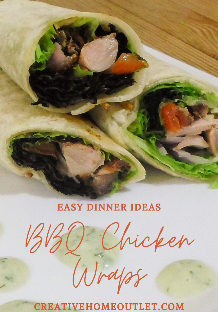 BBQ chicken wraps are great for midweek dinners and midweek dinner recipes