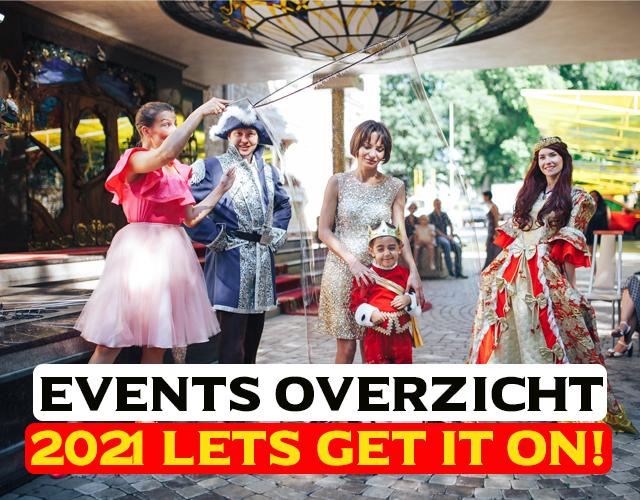 Overzicht events 2021