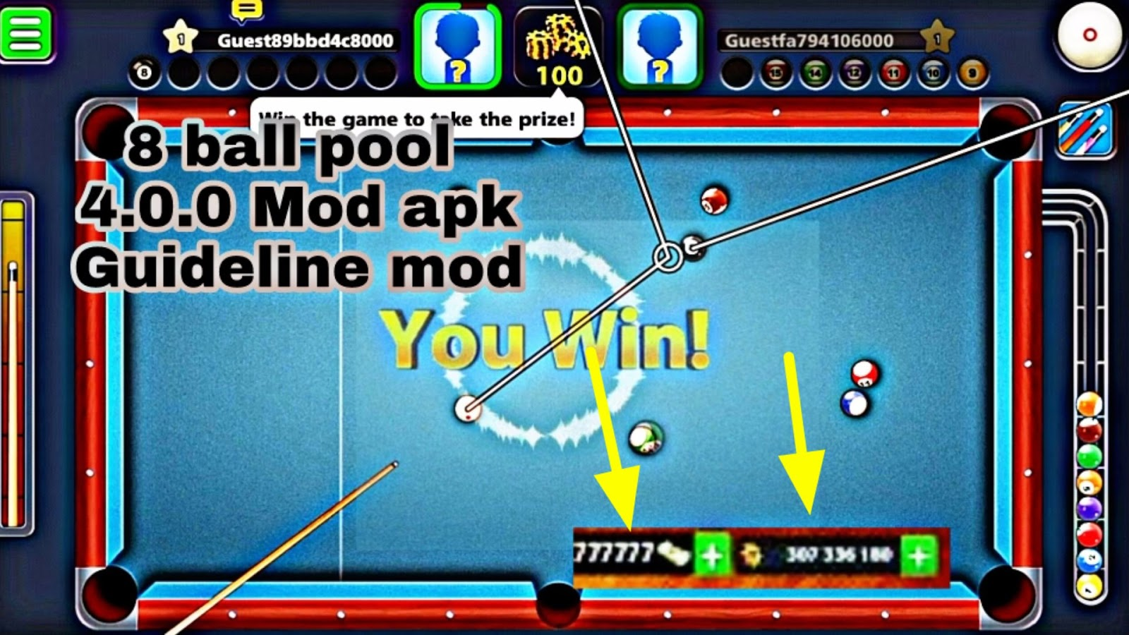 8 ball pool mega mod apk 4.0.0