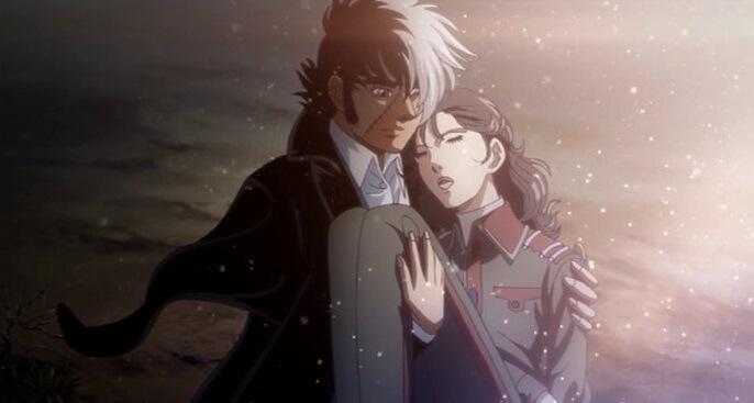 kuroo hazama of black jack carrying a girl