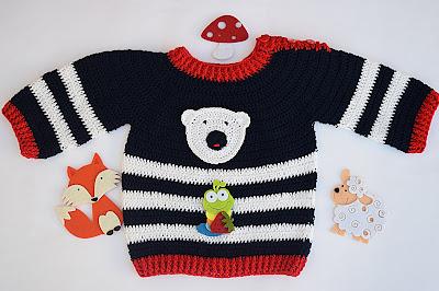 3 - Crochet Imagen Jersey marinero a crochet y ganchillo lindo facil sencillo por Majovel Crochet