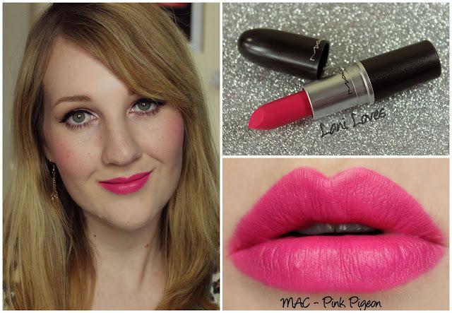 MAC Pink Pigeon lipstick swatch