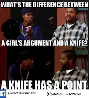A knife has a point