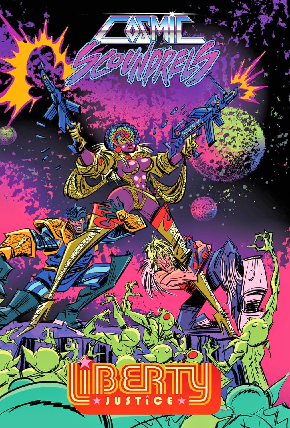 40 PAGE 11x17 COSMIC SCOUNDRELS/LIBERTY JUSTICE SUPER SIZED JAM BOOK!
