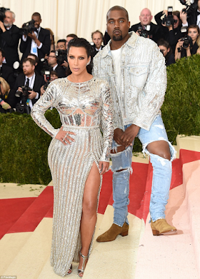 Kim and kanye red carpet MET Gala 2016