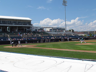 First pitch, Riversharks vs. Bluefish