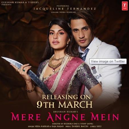 मेरे अगने में (Mere angne mian) Asim riyaz and jacqueline lyrics in hindi