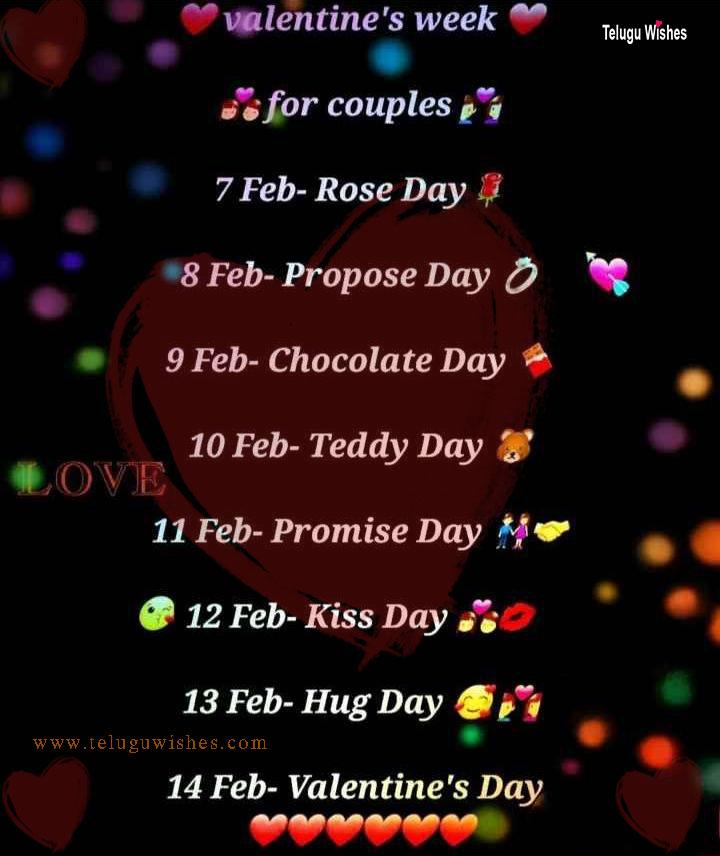 valentines week in telugu images