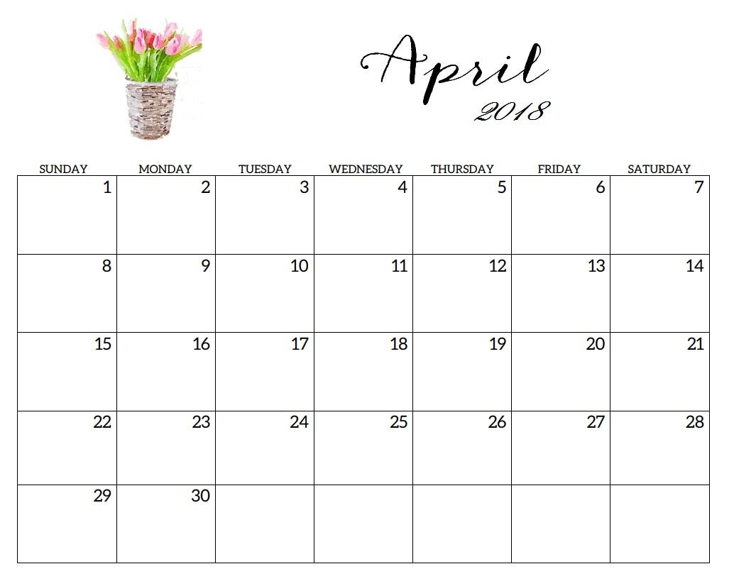 Calendar Q : Free april calendar printable template source