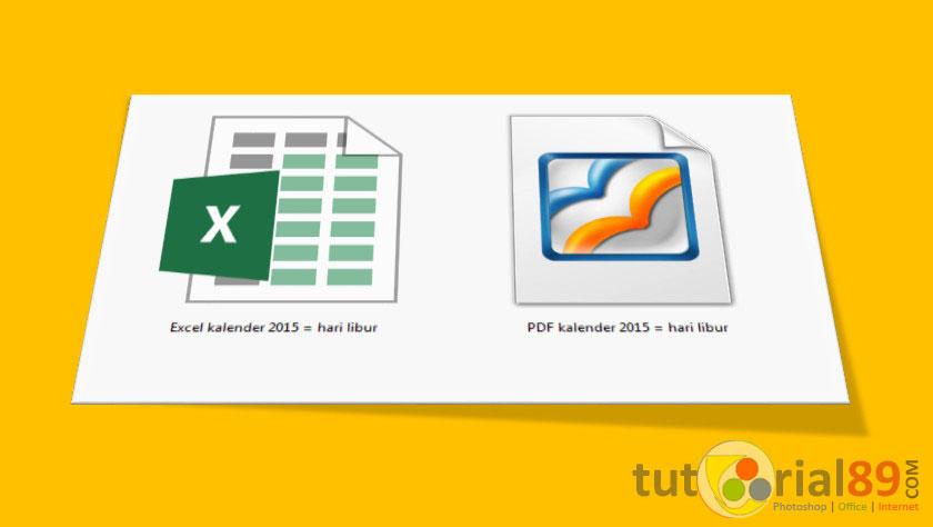 Cara cepat merubah file excel ke PDF | Tutorial89