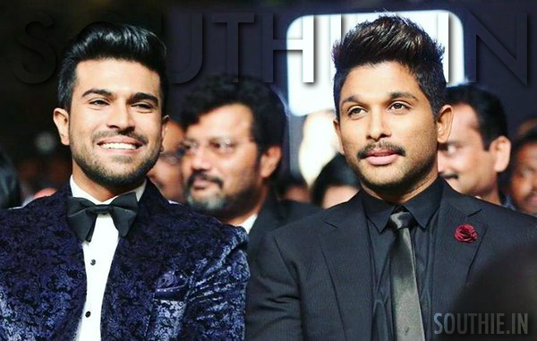 Allu Arjun and Ram Charan are seen as the most well dressed and elegantly styled stars, here they are seen bonding at the recently held IIFA utsavam. Ram Charan Trends, Allu Arjun trends, Allu Arjun and Ram Charan, RC 10, RC 11, RC 12, RC 13, Southie.in, Southie, Sarrainodu, Rakshak, Bruce Lee the fighter, Ram Charan in CHiru150 movie, Chiranjeevi, Movie
