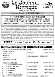 programme quinté Pronostic dimanche 03/10/2021