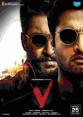 V (2020) Dual Audio [Hindi – Telugu] 720p UNCUT HDRip ESub x265 HEVC 800Mb