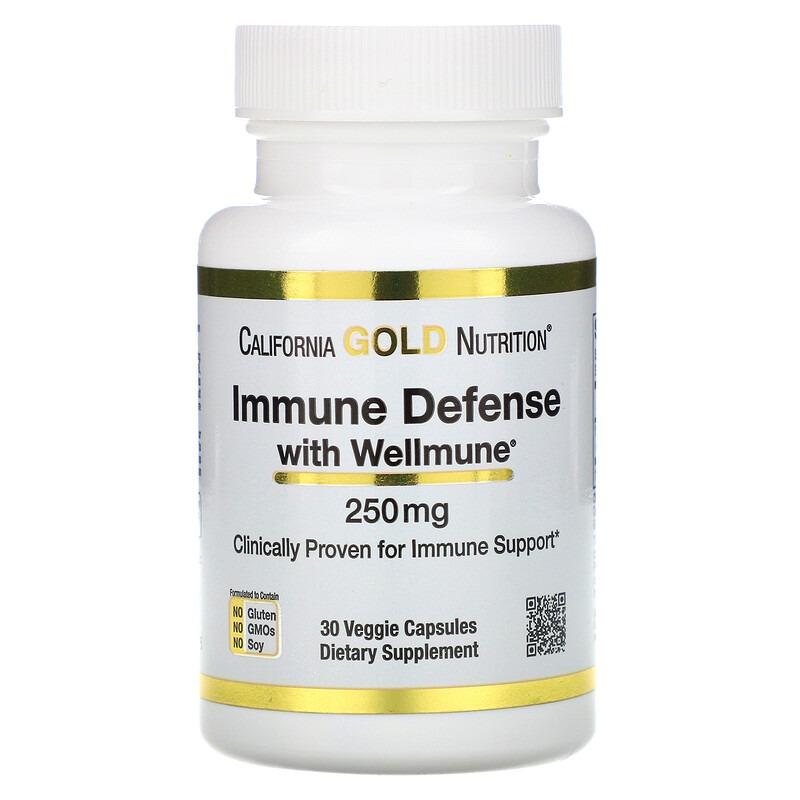 California Gold Nutrition, Immune Defense with Wellmune, Beta-Glucan, 250 mg , 30 Veggie Capsules