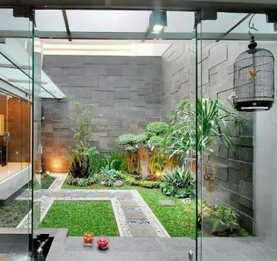 Taman minimalis indoor