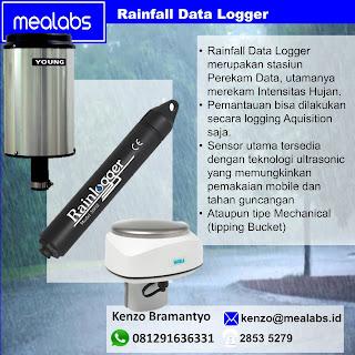 Sensor Curah Hujan Ultrasonik dan Mekanikal