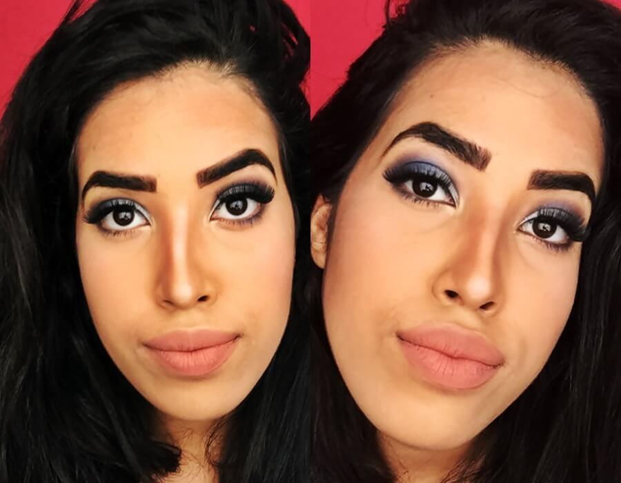 maquiagem azul para formatura