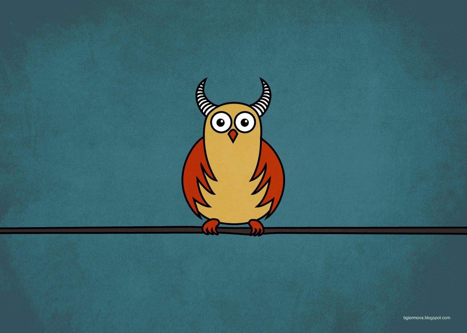 Get This Cartoon Owl Image As A Desktop Wallpaper And An IPhone