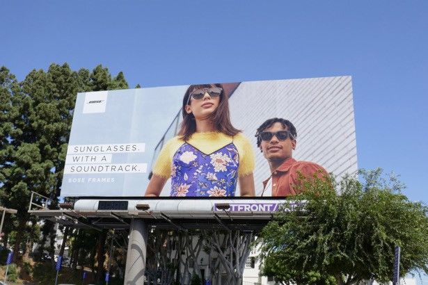 Bose Frames Sunglasses with a soundtrack billboard