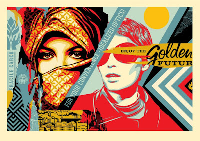 "Obey Giant ""Golden Future"" Large Format Screen Print by Shepard Fairey"