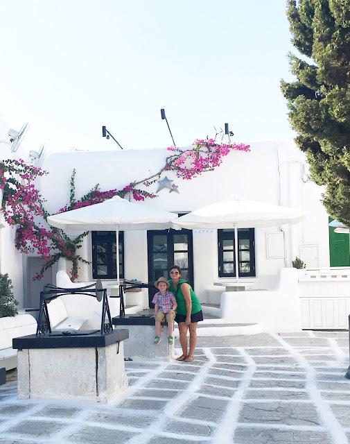 Mykonos Greece with family