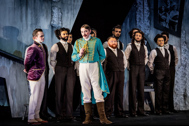 Rossini: La cenerentola - Liam Bonthrone, Jerome Knox & chorus - British Youth Opera (Photo Robert Workman)