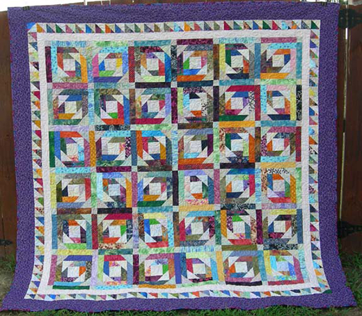 Pineapple Blossom Blocks Star Quilt Free Tutorial Designed by Bonnie K. Hunter from Quiltville
