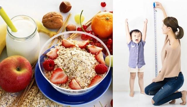 Dinh dưỡng giúp trẻ tăng chiều cao