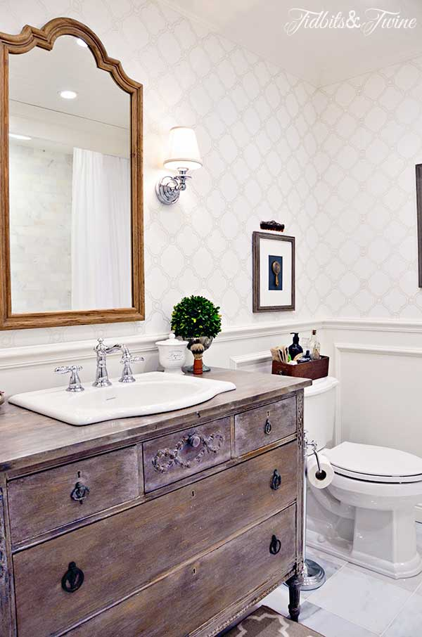 Tidbits & Twine Bathroom Makeover-Treasure Hunt Thursday- From My Front Porch To Yours