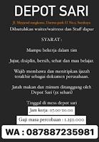 Lowongan Kerja di Depot Sari Surabaya Januuari 2021