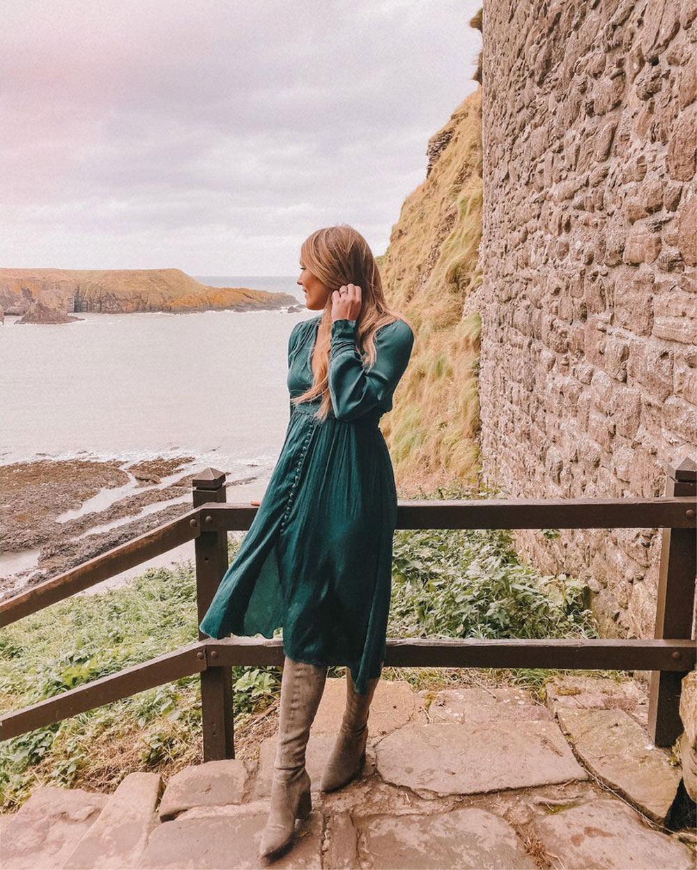 OKC blogger Amanda's OK visits Dunnottar Castle in Scotland