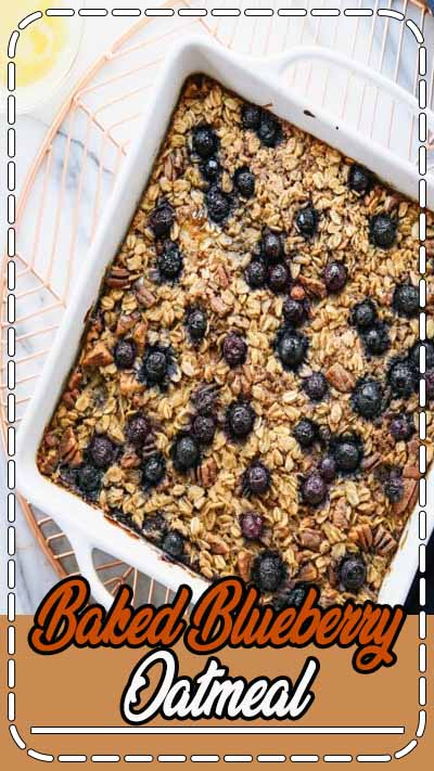 Baked Blueberry Oatmeal is a nutritious filling breakfast/brunch for a crowd or for meal prepping. It's made with vegan ingredients and is highly adaptable! Breakfast Ideas | Brunch for Crowd | Breakfast Meal Prep | Vegan Breakfast | Oatmeal Recipes #bakedoatmeal #veganbreakfast #brunchideas #mealprepbreakfast #feelgoodfoodie #recipevideo #foodvideo